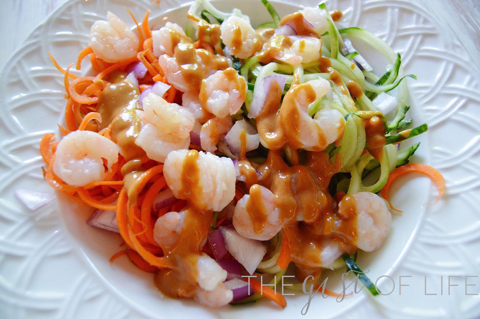 Shrimp zoodle bowls